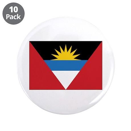 """Antigua Flag 3.5"""" Button (10 pack)"""