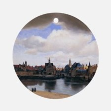 View of Delft Ornament (Round)