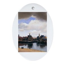 View of Delft Ornament (Oval)