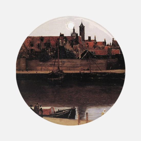 View of Delft (detail) Ornament (Round)