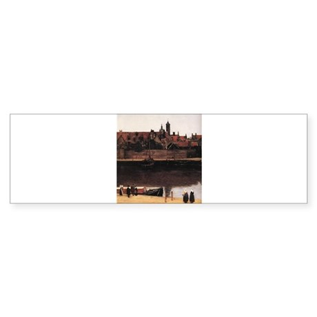 View of Delft (detail) Sticker (Bumper)