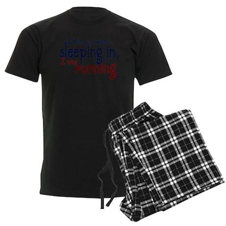 Sleeping in Men's Dark Pajamas