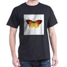 Vintage Butterfly Black T-Shirt