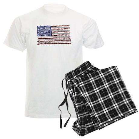 Glitter Flag Men's Light Pajamas