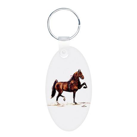 Hackney Pony Aluminum Oval Keychain