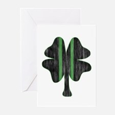 Vintage Racing clover Greeting Cards (Pk of 20)
