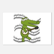 Crocodile With Banjo Postcards (Package of 8)