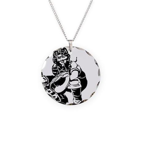 CATCHER *1* Necklace Circle Charm