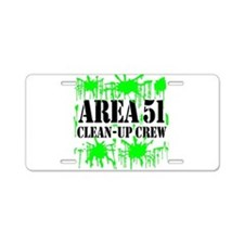 Area 51 Clean-Up Crew Aluminum License Plate