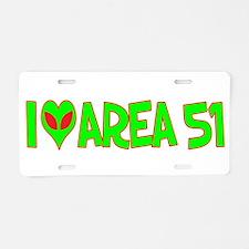 I Love-Alien Area 51 Aluminum License Plate