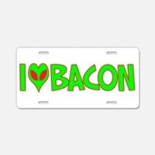 I Love-Alien Bacon Aluminum License Plate