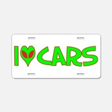 I Love-Alien Cars Aluminum License Plate