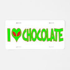 I Love-Alien Chocolate Aluminum License Plate