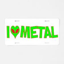 I Love-Alien Metal Aluminum License Plate