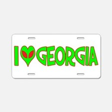 I Love-Alien Georgia Aluminum License Plate