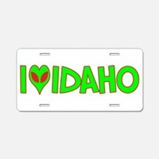 I Love-Alien Idaho Aluminum License Plate