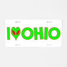 I Love-Alien Ohio Aluminum License Plate