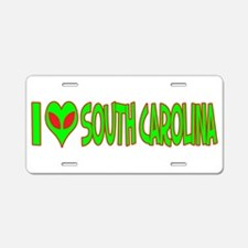 I Love-Alien South Carolina Aluminum License Plate