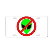 No More Aliens Aluminum License Plate