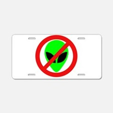 No More Aliens Aluminum License Plate