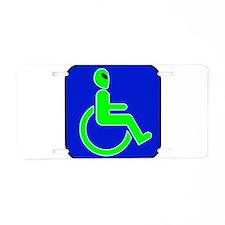 Handicapped Alien Aluminum License Plate