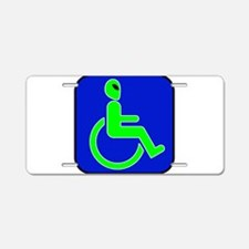 Handicapped Alien Aluminum License Plate