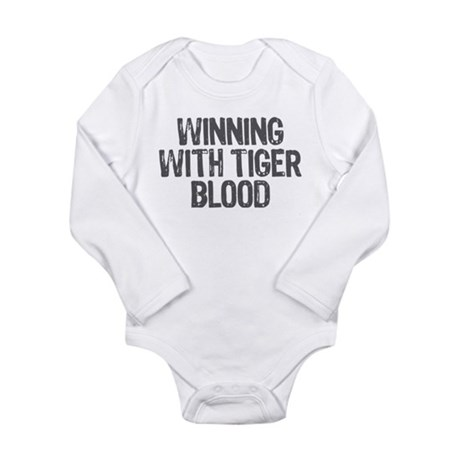 Winning With Tiger Blood Long Sleeve Infant Bodysu