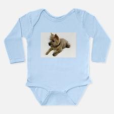 Cairn Terrier Puppy Long Sleeve Infant Bodysuit