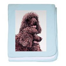 Irish Water Spaniel baby blanket
