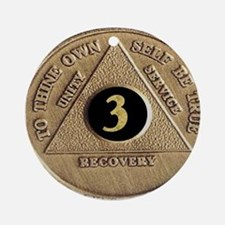 3 YEAR COIN Ornament (Round)