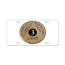 3 YEAR COIN Aluminum License Plate