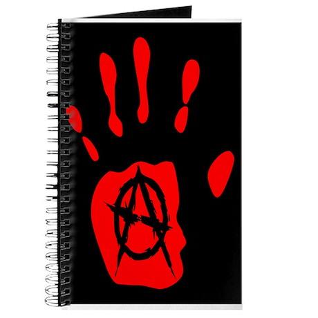 red hand black anarchy symbol Journal