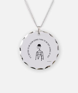 Slow Going Walker 1 Necklace