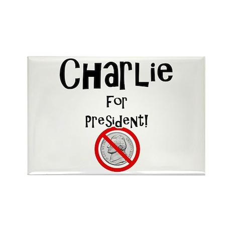 Charlie for President Rectangle Magnet (10 pack)