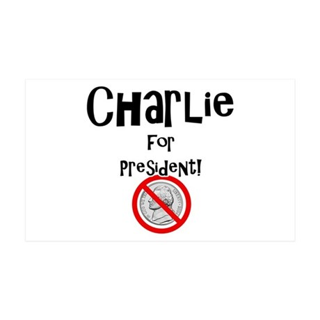 Charlie for President 38.5 x 24.5 Wall Peel
