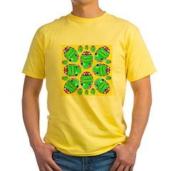 Happy Easter Eggs Lemon Yellow T-Shirt