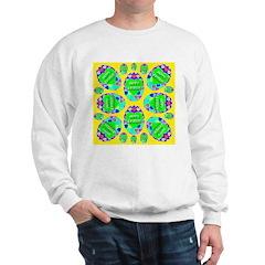 Happy Easter Eggs Lemon Sweatshirt