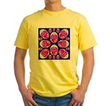 Happy Easter Eggs Mosaic Blue Yellow T-Shirt