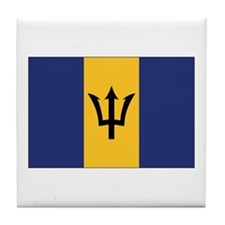 Barbados Flag Tile Coaster