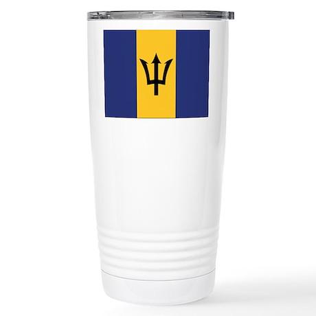 Barbados Flag Stainless Steel Travel Mug