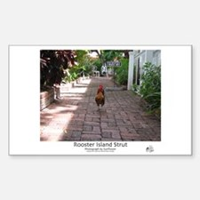 Rooster Island Strut Rectangle Decal