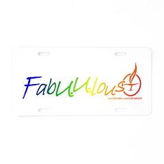 FabUUlous Aluminum License Plate