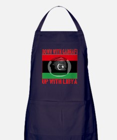 Down With Gadhafi Up With Libya Apron (dark)