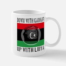 Down With Gadhafi Up With Libya Mug