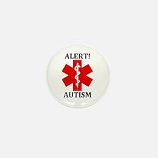 "Autism Medical Alert 1"" Mini Button (10 pack)"