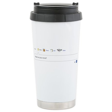 Facebook Status Stainless Steel Travel Mug