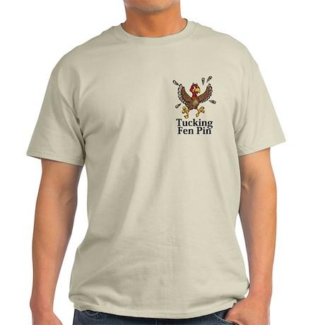 Tucking Fen Pin Logo 14 Light T-Shirt Design Front