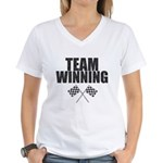 Team Winning Women's V-Neck T-Shirt