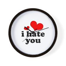 I Hate You Wall Clock