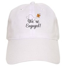 Orange Butterfly Engagement Baseball Cap